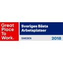Great Place To Work - Sveriges Bästa Arbetsplatser 2018.