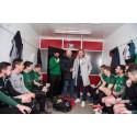 John Hartson and Robbie Savage take first steps into Sunday league football