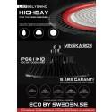 Highbay för industri och anläggning med optisk linsteknik för bättre ljusmönster