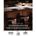 Välgörenhetsmiddag på Mathias Dahlgren Matbordet
