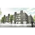 Avtäckning av konst och pressvisning av lägenheter i HSB Sportsbyn