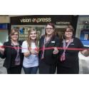 Childhood cancer survivor joins Vision Express at reopening of Kidderminster store