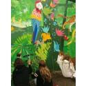 Elever laver kæmpe maleri for regnskoven