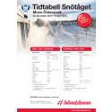 Tidtabell Snötåget 2017/2018