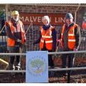 Smiling volunteers at Malvern Link station.