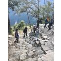 Skoleruin etter jordskjelvet i Dolakha, Nepal