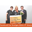 Anneli Johansson på Sundsvalls gymnasium är utsedd till Sveriges bästa UF-lärare