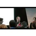 Mynewsdesk CMO Adam Cranfield talking integrating social media campaigns during SMWF Europe