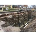 Historisk friläggning av slussar längs Göta kanal