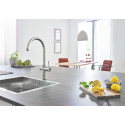 GROHE Blue® Home -keittiöhanasta saa vaivattomasti myös hiilihapotettua vettä