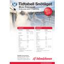 Tidtabell Snötåget 2016