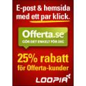 25 procent rabatt på Loopia för Offerta.se-kunder