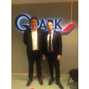 Erik Andersson (M) besökte igår Q-Park i Uppsala