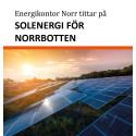 Omvärldsanalys  – Energikontor Norr tittar på solenergi för Norrbotten