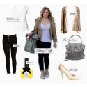 Festa till outfiten med hjälp av en glitterjacka, precis som Hilary Duff!