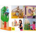 Aktivitetspaneler, barnmöbler och leksaker från tyska Erzi finns nu i Sverige