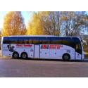 Inbjudan till pressvisning onsdag 27/10: Premiär på Sveriges första buss med EU-godkända bakåtvända barnsäten