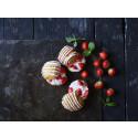 Fastelavnsboller med jordbærcreme