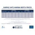 Karpaz Gate Marina Price List