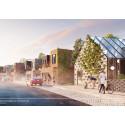 Skiss från Reinova Properties, en av de vinnande anbudsgivarna för Kristineberg.