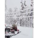 Övik Energi skickar elmontörer till väderdrabbade områden i Västerbotten!