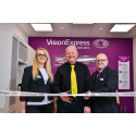 Charity ambassador with rare sight condition joins Vision Express to officially open optical store at Tesco in Maldon