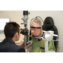 Former Nottingham Post business editor is first to use eye test facilities at new Vision Express HQ