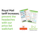 Royal Mail tariff increases; prevent the headaches with our price list wallplanner