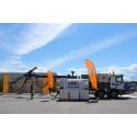 Förberedelser av sprutbetongtest hos BASF i Rosersberg inför Förbifart Stockholm