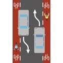 Illustration bilist/cyklist
