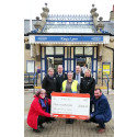 Just the ticket: Great Northern staff present Air Ambulance with fundraising cheque