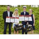 Två elever vid Tannbergsskolan belönade med Bygmastipendiet
