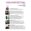 Program Läslovsfestival 2016