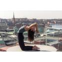 Yoga på restaurang Taks terrass