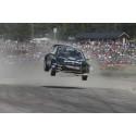 Ramona Karlsson i RallyX-final på Solvalla