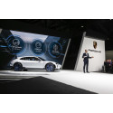 Oliver Blume, Chairman of the Executive Board of Porsche AG, presenting the concept study Mission E Cross Turismo