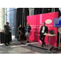 Mariette Hilmersson och Martin Blixt inledde Speakers Corner på Business Arena