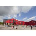 Invigning av den visionära Vibeengskolen, ritad av Arkitema Architects