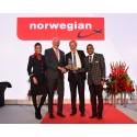 CAPA palkitsi Norwegianin Vuoden lentoyhtiö -palkinnolla 12.10.2017