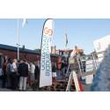 Entrén till Hållbarhetsarenan i Visby hamn under Almedalsveckan