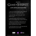 Game of Thrones - Budord mot spoilers