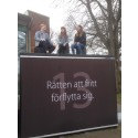 Den första september invigs Halmstads kub för mänskliga rättigheter i Kungsträdgården