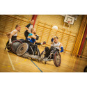 Bollsport i rullstol. Foto Mikael Nyander