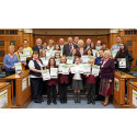 'Green' gardeners and children receive their prizes