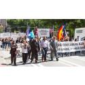 Demonstration krävde stopp för elchockande av barn
