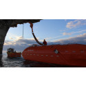 Lifeboats on tow