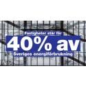 Fastighetssektorn står för nästan 40% av Sveriges energiförbrukning
