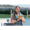 Hi-res image - Ocean Signal - Ocean rower Lia Ditton with the Ocean Signal SafeSea EPIRB
