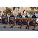 Manifestation utanför riksdagen – djurrättsorganisationer uppmanar regeringen att förbjuda vilda djur på cirkus