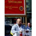 SKP:s partiordförande valtalar i Uddevalla